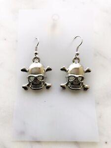 Skull Earrings Women Drop Hook