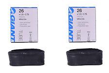 Paire de GIANT ULTRA LITE Inner Tubes 26 X 1.5-1.75 Presta/FRENCH Valve HP 48 mm Valv