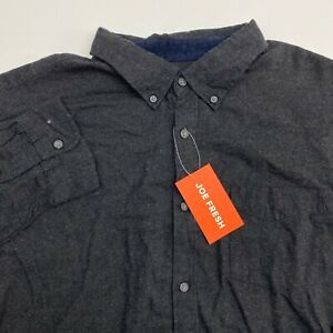 NEW Joe Fresh Button Up Shirt Mens XL Black Long Sleeve Casual