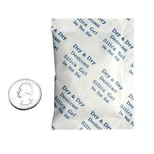 Silica Gel Packets Desiccant Dehumidifiers 10 Gram Pack of 10 Fda Compliant Safe