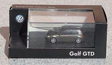 Rietze modello da collezione (h0, 1:87) VW GOLF GTD GRIGIO ARGENTO METALLIZZATO Merce Nuova