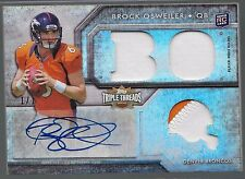2012 Triple Threads Brock Osweiler Auto 2 Color Patch Rc True 1 of 1 Broncos Pic