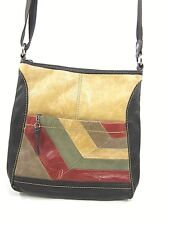 THE SAK, IRIS CROSS BODY, GEO MULTI COLORED, ONE SIZE, LEATHER, PRE-OWNED