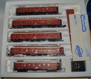 Liliput 860 Reisezugwagenset Orient Express CIWL OVP