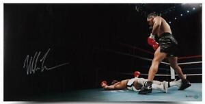 """MIKE TYSON Autographed """"Knockout"""" 36"""" x 18"""" Photograph UDA LE 50"""