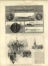 1885 Experiments With Nordenfeldt Submarine Boat Denmark Prince Of Wales