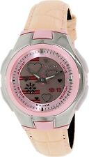 Casio LCF10L-4A Ladies Analog Digital Pink Leather Pop Tone Watch - 5 ALARMS