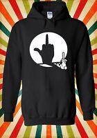 Middle Finger Shadow Puppet Funny Men Women Unisex Top Hoodie Sweatshirt 2256