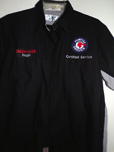 """""""PONTIAC SERVICE"""" SHOP/TECHNICANS SHORT SLEEVE WORK SHIRT USED/RECYCLED GTO"""