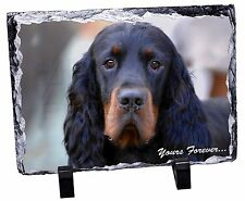 Gordon Setter 'Yours Forever' Photo Slate Christmas Gift Ornament, AD-GOR2ySL