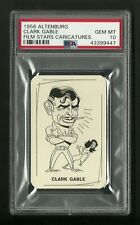 Clark Gable 1956 Altenburg Film Star Caricature Card PSA 10 Gem Mint