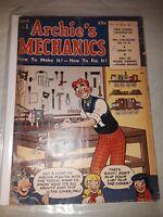 ARCHIE'S MECHANICS #1 ( Sept 1954 ) G/VG (3.0)