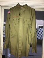 vintage BSA Boy Scouts of America Uniform shirt USA Long Sleeve 1980s