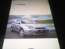 Ford Focus Brochure September 2000 inc Ghia etc