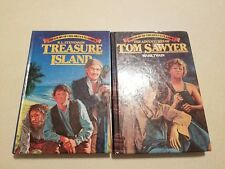 TREASURY OF CHILDRENS CLASSICS TREASURE ISLAND AND TOM SAWYER FREE SHIPPING