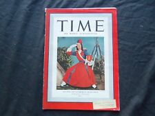 1940 DECEMBER 30 TIME MAGAZINE - LILY PONS: DAUGHTER OF THE REGIMENT - T 745