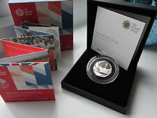 2016 UK 50p Silver Proof PIEDFORT. Team GB. Only 2016 made. SOLD OUT  boxed/coa