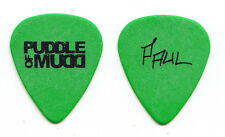 Puddle Of Mudd Paul Phillips Signature Green Guitar Pick - 2010 Tour
