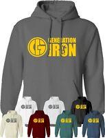 Generation Iron Hoodie Gym Workout Fitness Training MMA UFC Clothing