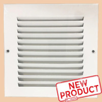 "6 x 6"" Air Return Vent Cover Duct Size Grille Steel Wall Sidewall Ceiling White"