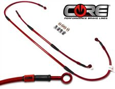 09-17 CRF450R Core Moto Front and Rear Brake Line Kit Red Honda