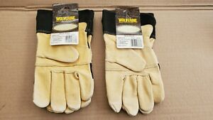 Wolverine Leather Palm Gloves Size Large (Lot Of 2 pairs)