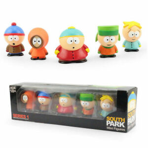 """HOT 5 pcs Characters South Park Action 6cm or 2.4"""" Figures Dolls in Box SET"""