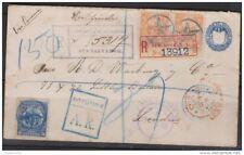 O) 1895 EL SALVADOR - SAN SALVADOR, POSTAL STATIONARY, REGISTERE ENVELOPE WITH 1