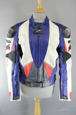 SPYKE TITANIUM LEATHER RACING/SPORTS BIKER JACKET WITH CE ARMOUR 40 INCH