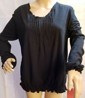 Mossimo Womens Black Long Sleeve Shirt Size XXL New With Tags