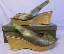 JONES THE BOOT MAKER LADIES BROWN LEATHER WEDGE SHOES SIZE 6 EURO SIZE 39 BNWB