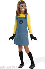 Despicable Me 2 Female MINION Girls Costume Size 4-6 S New Childs Halloween 4 6