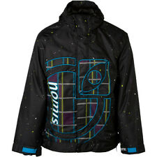 Nomis Logo Shell Jacket Mens Snowboard Ski Waterproof Coat Black XL