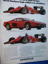 1985 Good Year Tire Ad-Formula One Ferrari-Michael Alboreto-Stefen Johnansson