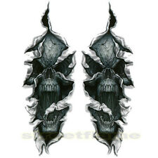 Set Of Two Skull Stickers Decals 4 Forks Fork Harley Torn For Fork Suzuki