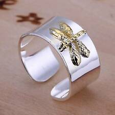 925 silver filled ring gold dragonfly women's fashion jewelry party gift size 8