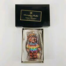 "Christopher Radko Hand Painted Ornament ""Cubby's Rainbow� bear retired 1999"