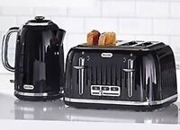 Breville Impressions Black jug Kettle VTT476 and BlackToaster VKJ755 NEW