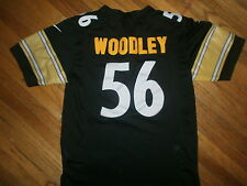 LAMARR WOODLEY PITTSBURGH STEELERS 56 JERSEY Sewn NFL Embroidered NIKE Youth Med