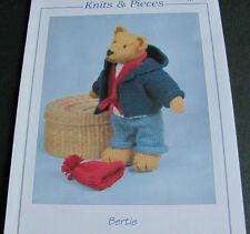 Knitting pattern for Bertie the Teddy bear in double knitting 32-35 cm approx