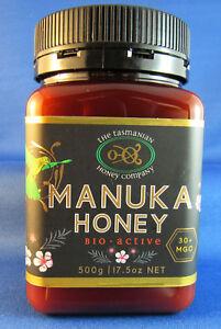 Tasmanian Manuka Honey, Natural Activity, MGO 30+, 500gms, free shipping