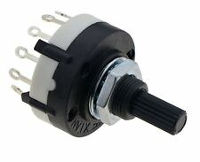 3 Pole / 4 Way Black Rotary Switch Solder Terminals