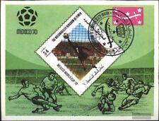 Yemen(UK) block192 (complete issue) used 1970 Football-WM ´70,