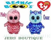 """Ty Beanie Boos Plush Oscar Pinky Owl 6"""" Babie Baby Stuffed Animal Plush Toy"""
