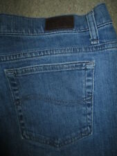 LEE Size 16 Med x 30 Relaxed Straight Leg At The Waist Stretch Denim Jeans Women