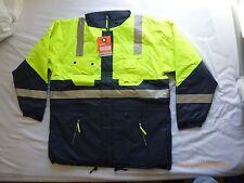 Superior Safety Yellow fluorescent hi-viz all-weather winter work jacket 5XL New