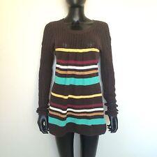 Volcom Women's Bikini Knit Cover Up Size Large Brown Beach Minnie Sweater L