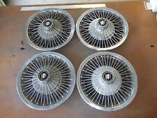 "67 68 69 70 71 72 Buick Special Hubcap Rim Wheel Cover Hub Cap 14"" WIRE 1013 SET"