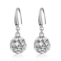 Women's Sweet Elegant 925 Sterling Silver Zircon Heart Dangle Earrings Jewelry