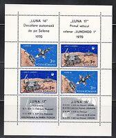 Romania 1971 MNH Mi Block 82 Luna 16 & Lunokhod 1 on Moon